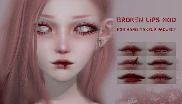 Broken Lips Mod for Makeup project