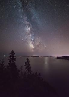 Milky way at Ocean's Edge