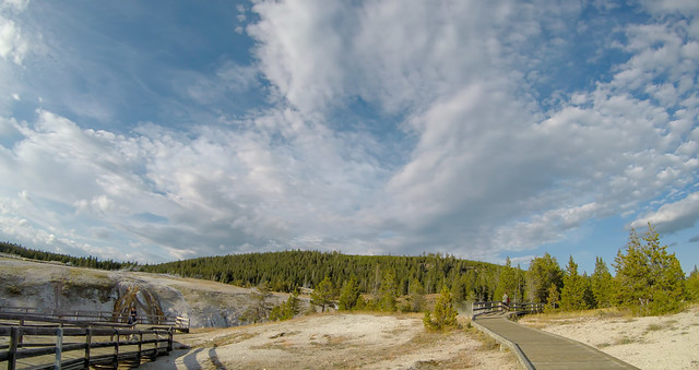 Old Faithful geysersac at Yellowstone National Park