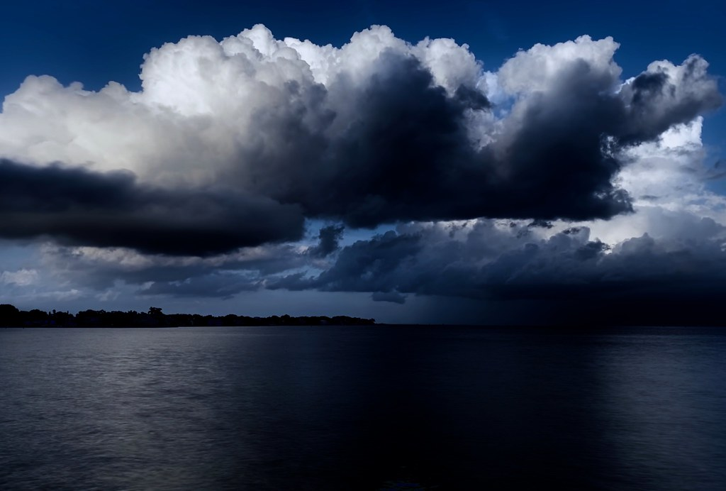 Storm Clouds and Light over Tampa Bay, Florida
