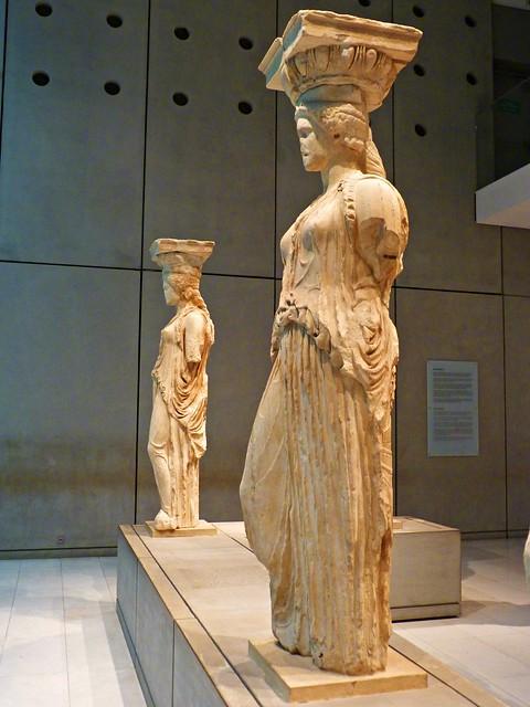 Cariatides del Erecteión. Museo de la Acrópolis. Atenas 🇬🇷