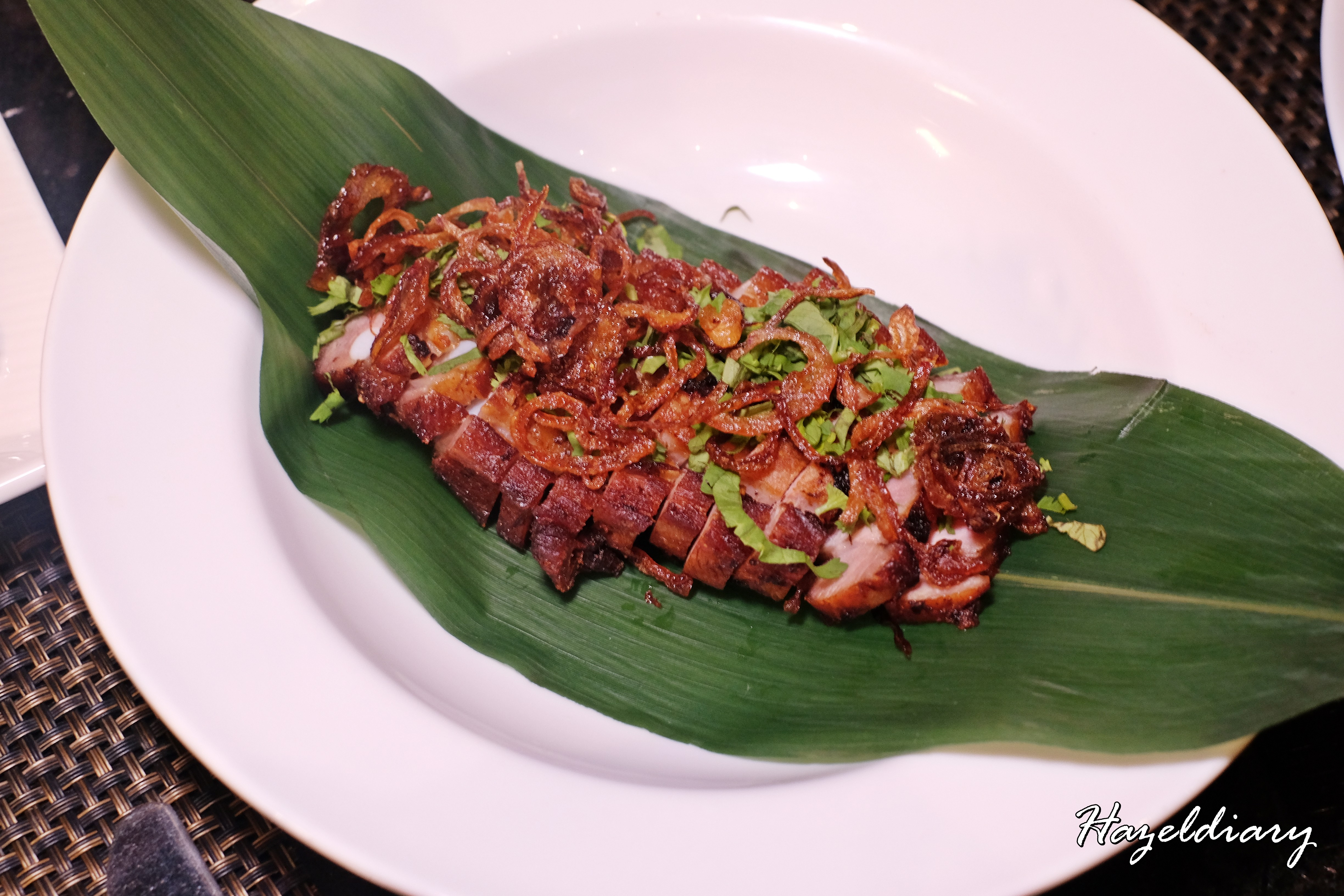 EnThaising Siam-The Dining Room Sheraton Towers Singapore-Pork Belly