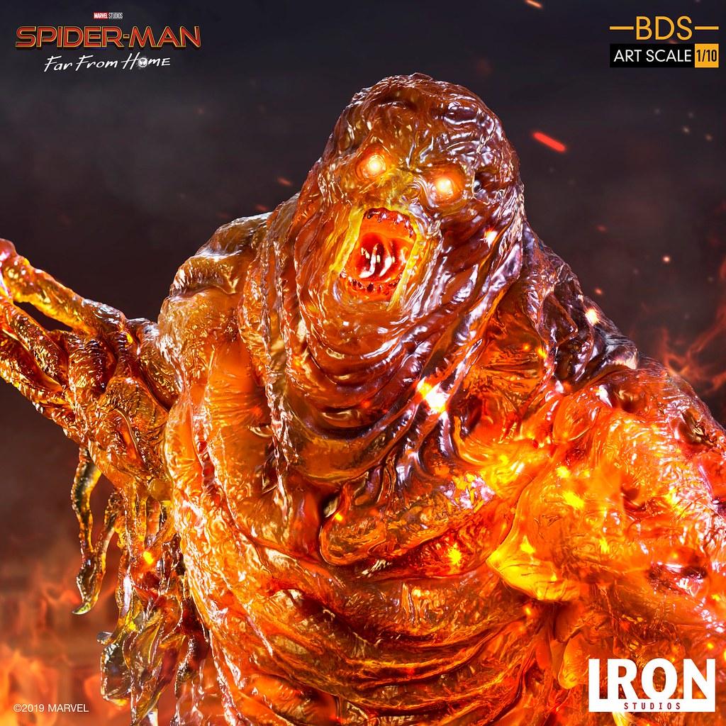 大型熔岩人襲來! Iron Studios Battle Diorama 系列《蜘蛛人:離家日》熔岩人 Molten-Man 1/10 比例決鬥場景雕像
