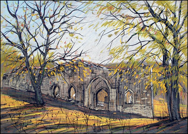 AN OLD CHURCH IN THE VILLAGE OF BOGATOYE (EN-PLEIN-AIR SKETCH)