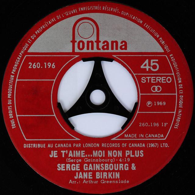 Serge Gainsbourg & Jane Birkin - Je T'aime Moi Non Plus [Canada Fontana] 2
