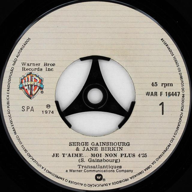 Serge Gainsbourg & Jane Birkin - Je T'aime Moi Non Plus [Portugal Warner Brothers]