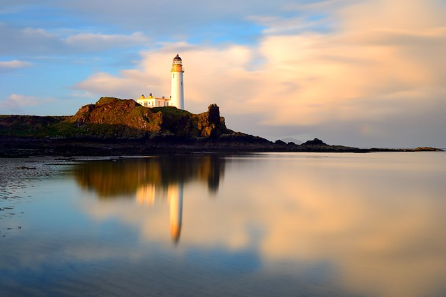 Morning light at Turnberry Lighthouse and Castle