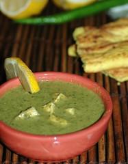Green Tofu soup