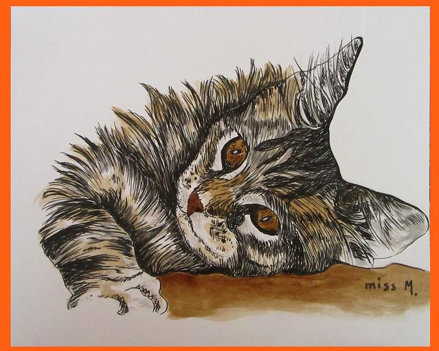 Inktober cat