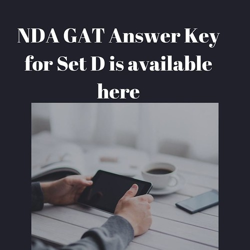 NDA GAT Answer Key for Set D is available here-min