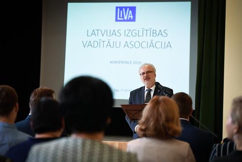 17.10.2019. Valsts prezidents Egils Levits piedalās Latvijas izglītības vadītāju asociācijas konferences atklāšanā