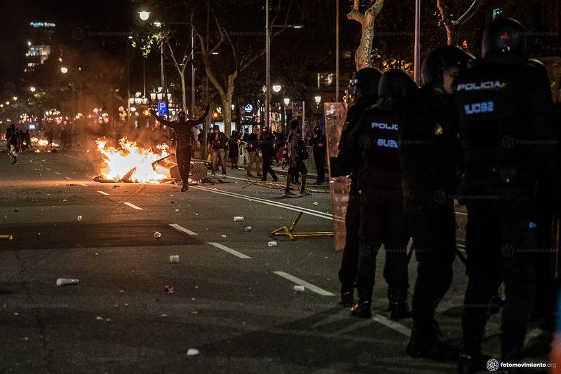 2019_10_16 Segon dia de mobilitzacions contra la sentència a Barcelona_JoannaChichelnitzky (06)