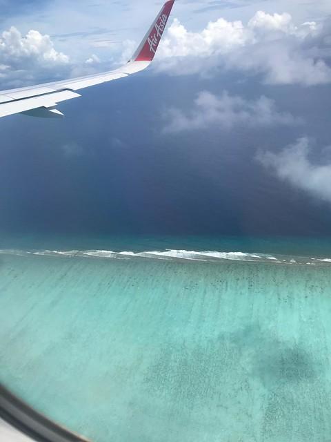 short before landing