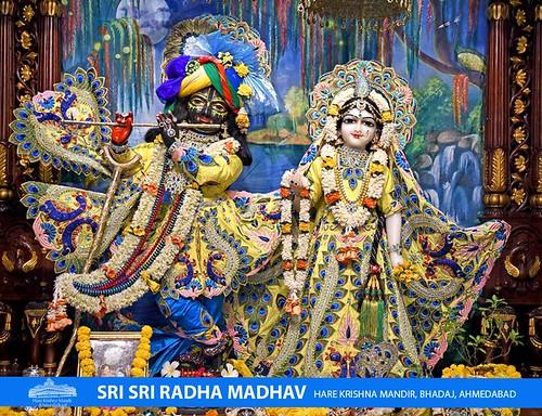 Hare Krishna Temple Ahmedabad Deity Darshan 17 Oct 2019
