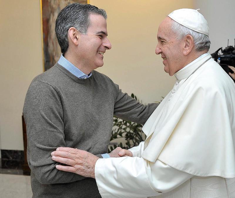 El Papa saluda a Luciani