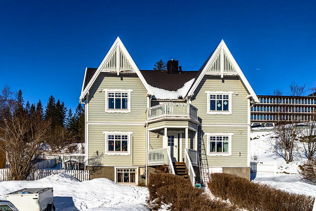 Architecture of a home in Narvik, Norway in March – 23a