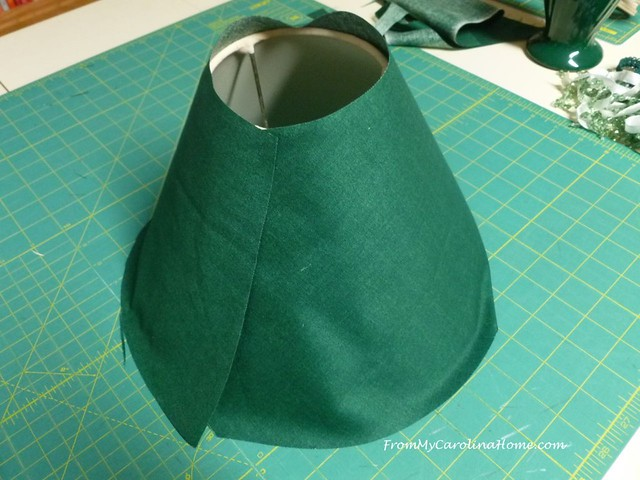 Recovering a Lampshade at FromMyCarolinaHome.com