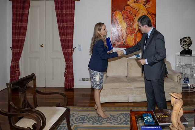 19.10. Secretário Executivo recebe Embaixador da Irlanda, Ralph Victory