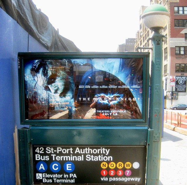 2008 Heath Ledger Joker Subway Entrance NYC 6525B
