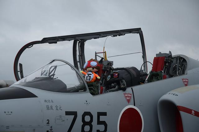 Doll in Cockpit of JASDF T-4 in Yokota Friendship Festival 2018