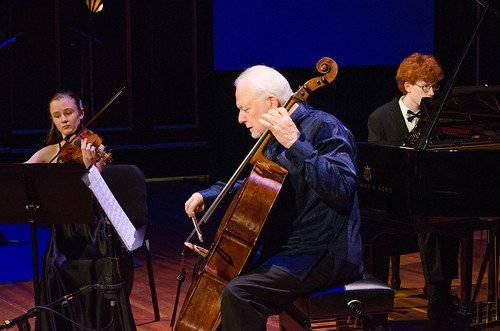Anna Stube, violin, Paul Katz, cello, and Henry From, piano