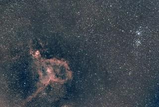 IC1805 et double amas de persée