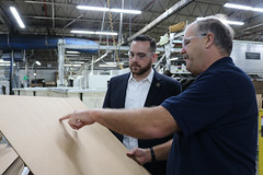 Rep. Davis toured Merrill Industries with CEO Richard Wheeler in Ellington to learn more about their operations in Connecticut's challenging business climate.