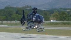 Eurocopter EC 135 en el aerodromo de Empuriabrava