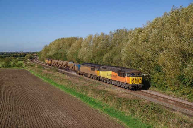 56090+56096+56113 At Barrow upon Trent. 17/10/2019