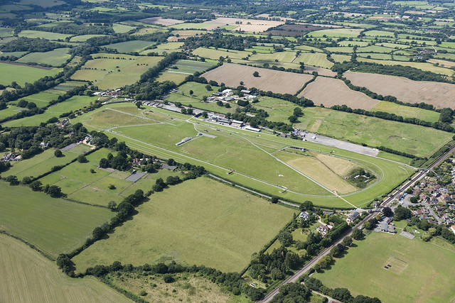Plumpton Racecourse aerial image