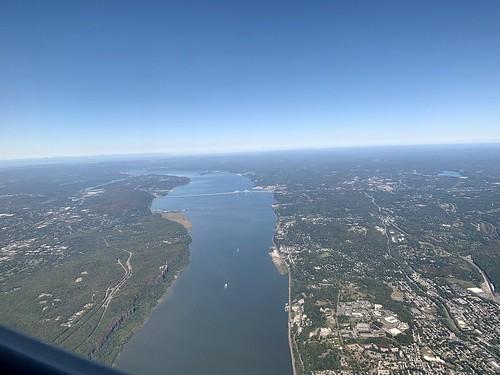 Window Seat 2F UA Flt 5477, Looking North Up The Hudson