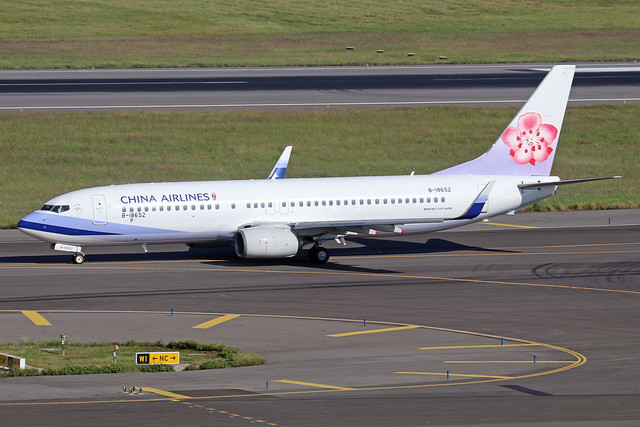 B-18652  -  Boeing 737-8Q8  -  China Airlines  -  TPE/RCTP 11/10/19