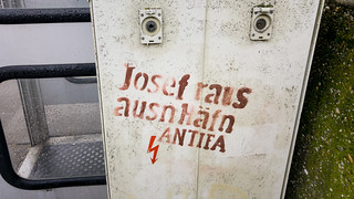 Josef raus ausn Häfn. ANTIFA Graffiti