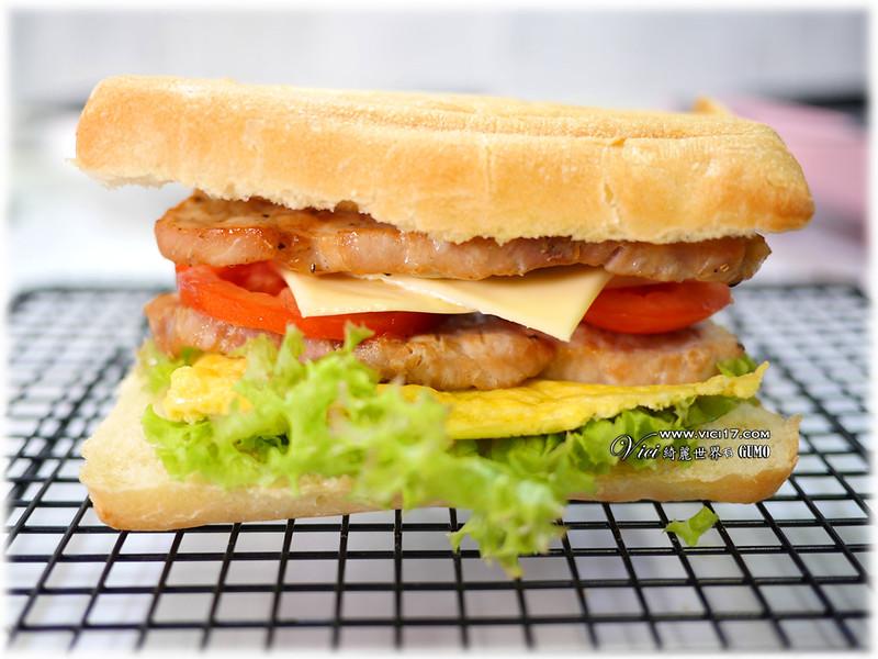碳烤里肌三明治063