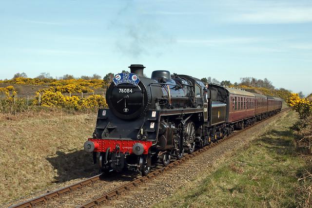 BR Standard Class 4MT No 76084 - Kelling Heath, North Norfolk Railway.