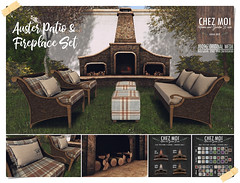 Auster Patio & Fireplace Set CHEZ MOI