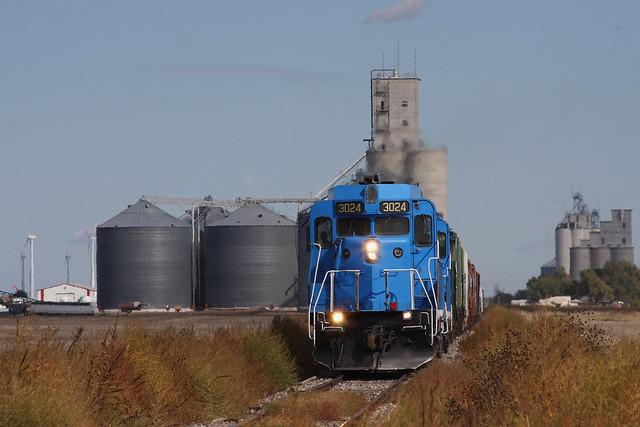 CVRR Cimarron Valley Railroad GP30 #3024 Westbound near Sublette, KS