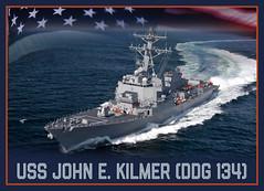 A photo illustration announcing that Arleigh-Burke class destroyer, DDG 134, will be named USS John E. Kilmer. (U.S. Navy/MC1 Paul Archer)