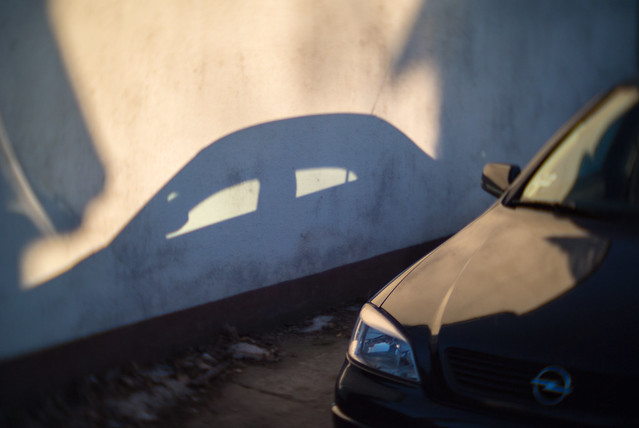 A car and its shadow