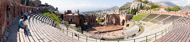 Teatro antico di Taormina pano