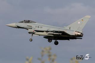31+29 German Air Force (Luftwaffe) Eurofighter Typhoon