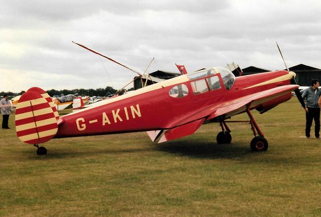 G-AKIN Miles  M38 Messenger 2A cn 6728 RAF Henlow 02Jun90