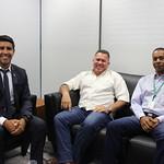 Reunião com 1º SGT CBM-DF Fernando da Silva e Subtenente Marcos Rocha