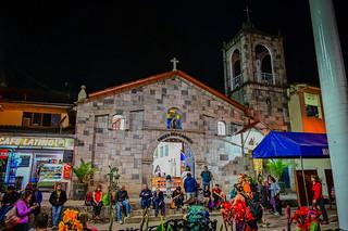 Virgen del Carmen Church at Night - Aguas Calientes Peru