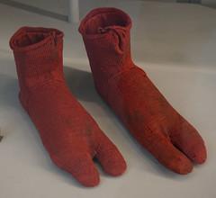 Mitjons per a sandàlia / Socks for sandals, Victoria and Albert Museum, London
