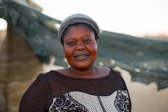 Namibian woman, Damara region