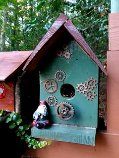 Gnome & Steampunk DIY bird house.