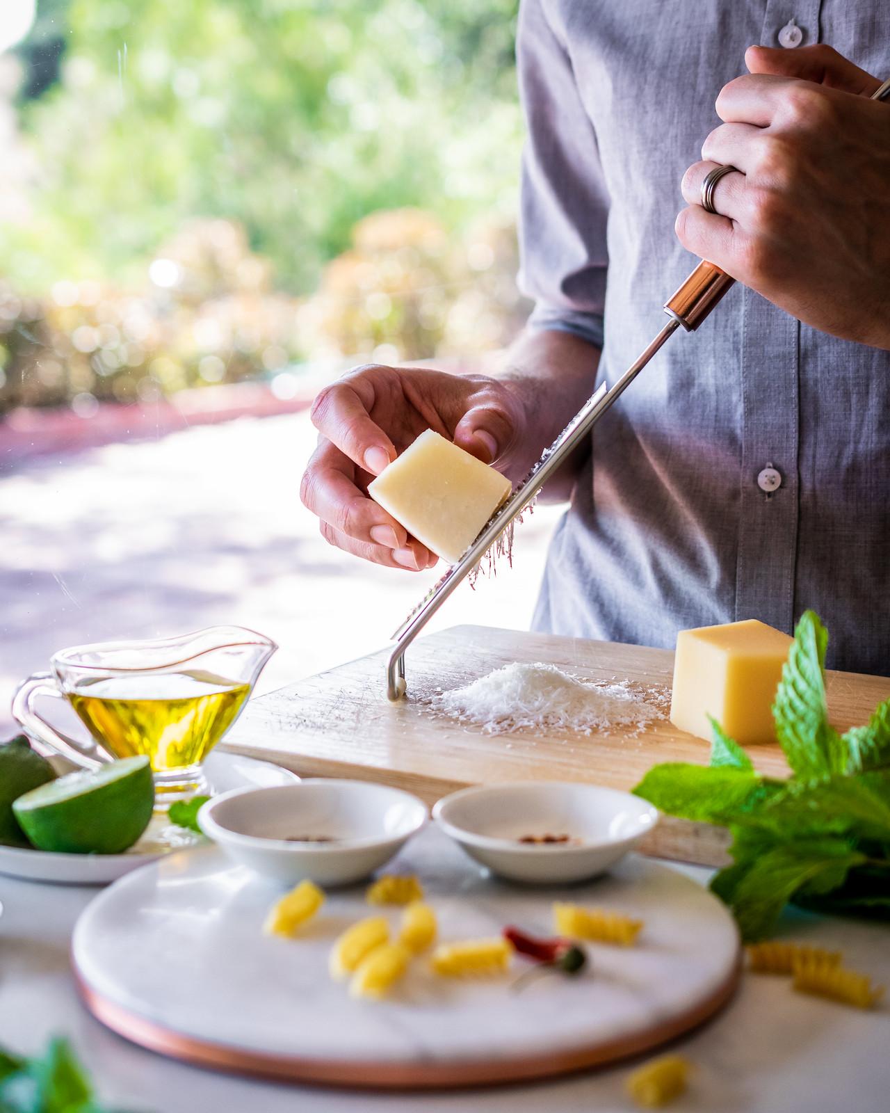 this recipe uses parmesan and pecorino romano