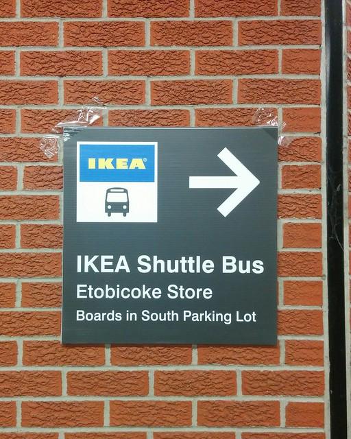 Surprise IKEA Shuttle Bus sign #toronto #ttc #kiplingstation #ikea #ikeaetobicoke #signs #bus