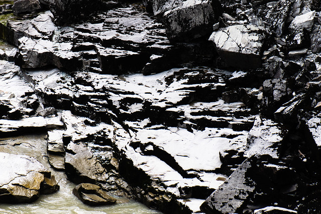 Black and white texture of rocks